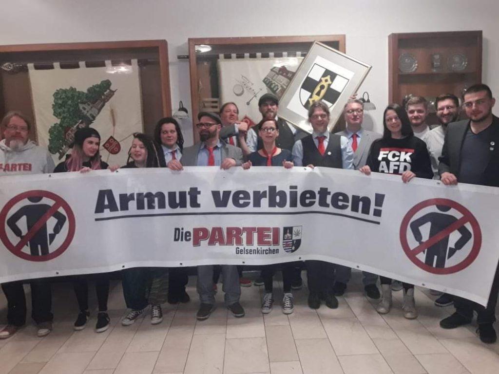 Am Freitag, 10. Mai 2019, gründete sich in Dorsten der Ortsverband der PARTEI; Foto: Marc Meinhard
