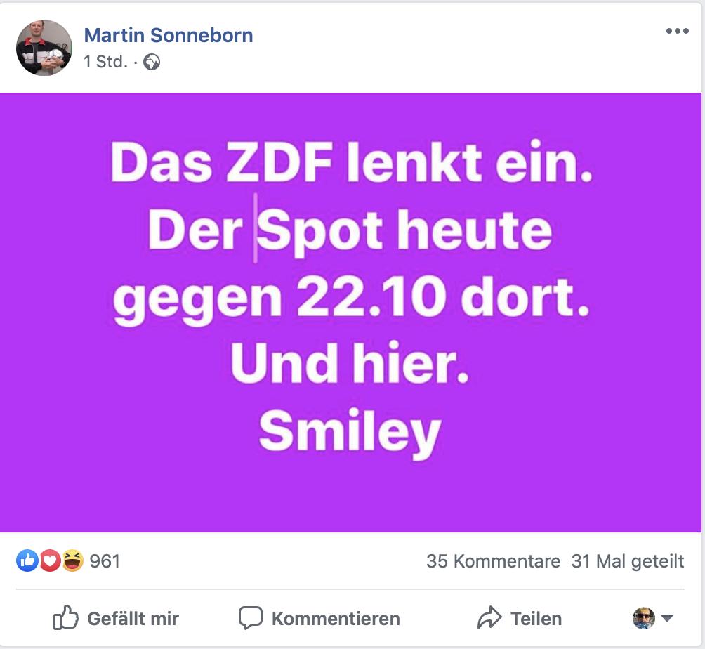 Das passt heute: Das ZDF kapituliert vor der Partei Die Partei: Screenshot