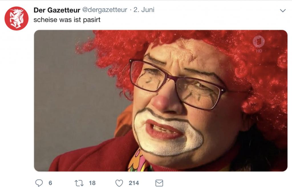 Die AG Humor der SPD und der Gazetteur nutzen wohl ähnliche Bildquellen; Foto: Screenshot Twitter