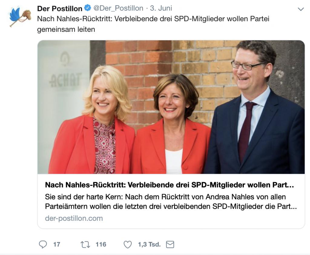Diese Troika rettet die SPD; Foto: Screenshot Twitter