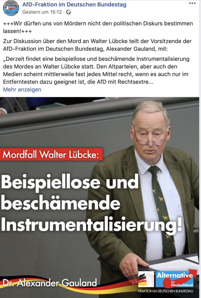 """Alexander Gauland (AfD) """"Beispiellose und beschämende Instrumentalisierung!"""""""