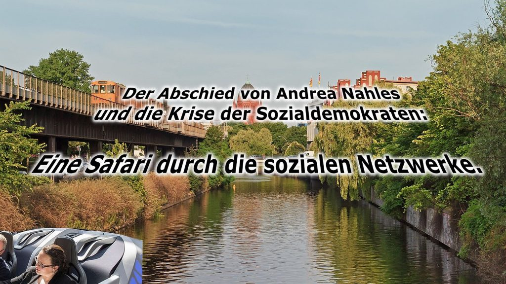 Probleme der Sozen wurden einst hier gelöst: Der Landwehrkanal in Berlin; Text und Montage: Ruhrbarone;