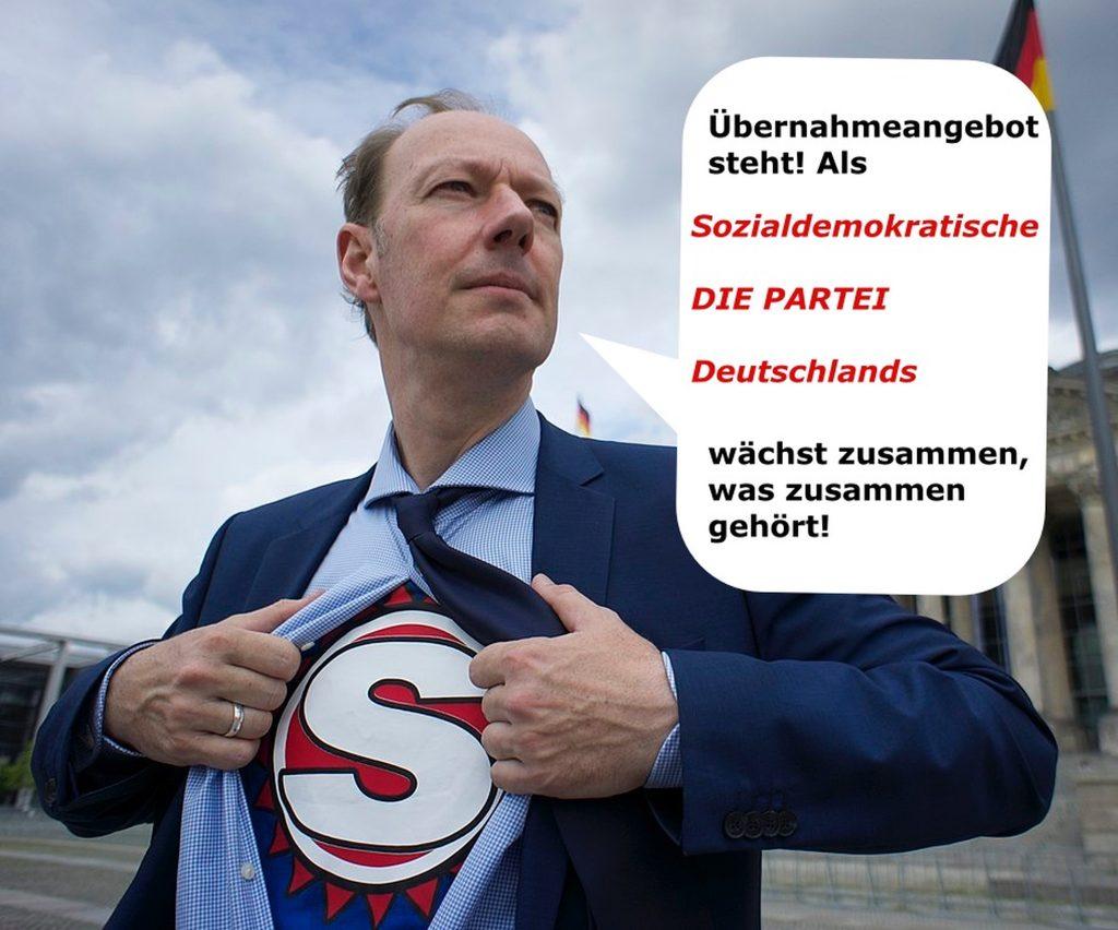 Sonneborn Partei Deutschlands: SPD vor der Rettung durch DIE PARTEI!