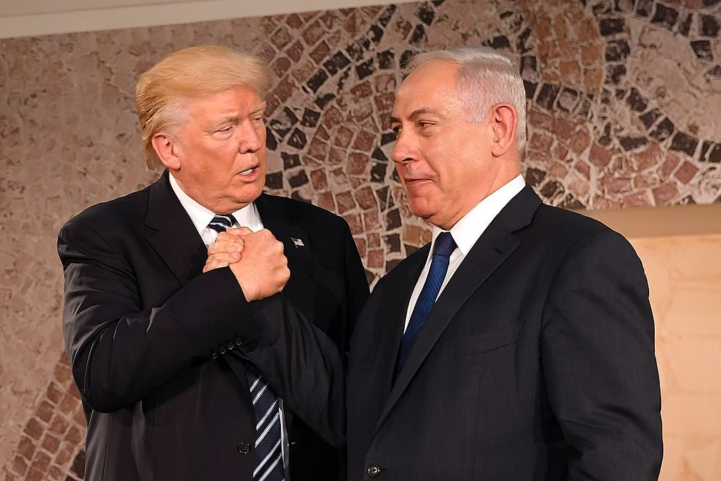 Friends: Donald Trump and Benjamin Netanyahu; Photo: U.S. Embassy Tel Aviv