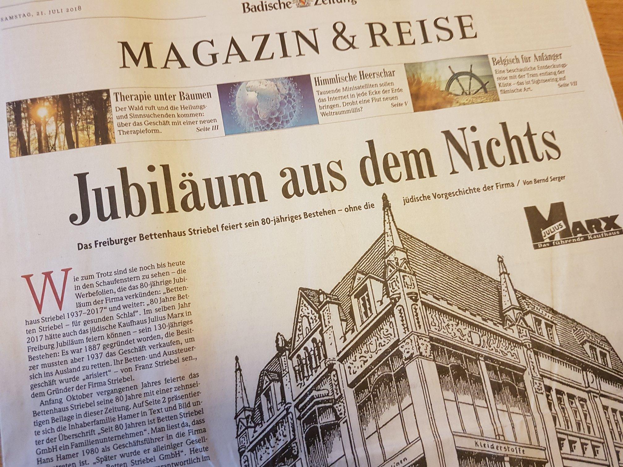 Badische Zeitung: Dieser Artikel war Stein des Anstoßes.