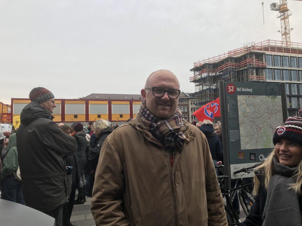 Sören Link (SPD): Zufrieden mit der Gegenveranstaltung der demokratischen Kräfte in Duisburg; Foto: Peter Ansmann