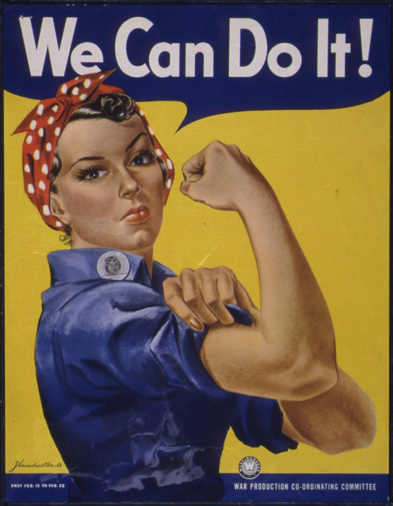 Rosi the Riveter - Rosie the Riveter - Quelle: U.S. National Archives, gemeinfrei