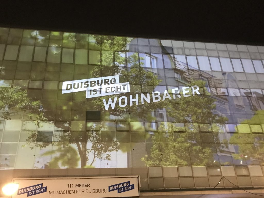 Duisburg: Wohnbarste und wunderbarste Stadt wo gibt; Foto: Peter Ansmann