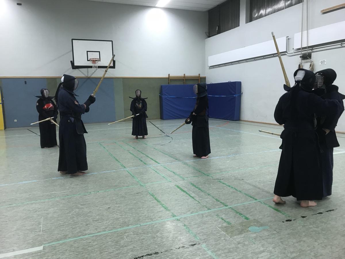 Japanische Fechtkunst in Duisburg: Kendo! Foto: Peter Ansmann