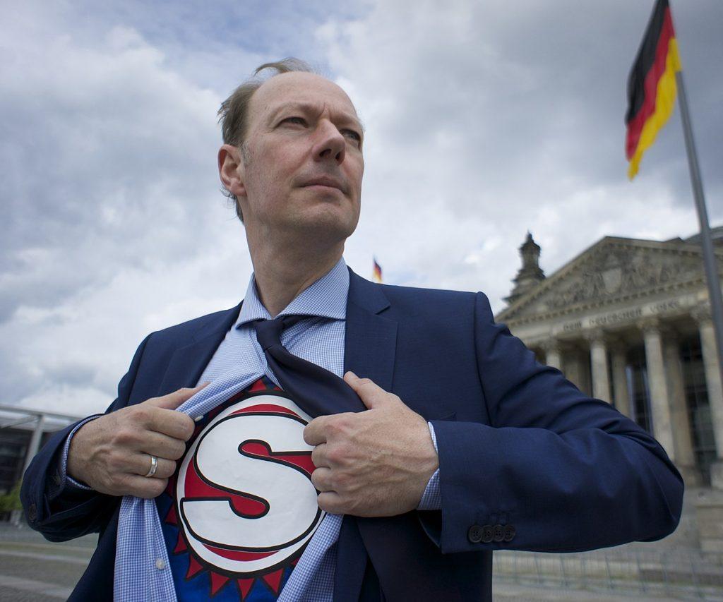 Martin Sonneborn (Die Partei) zur Krise in Thüringen; Foto: Lizenz Creative Commons