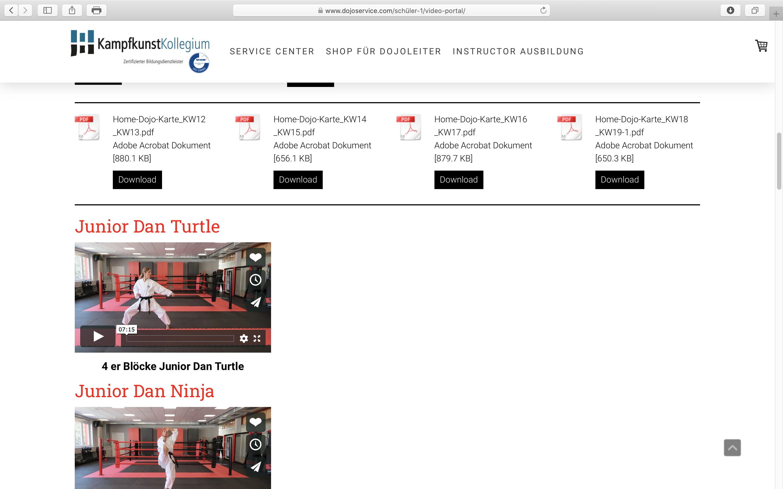 Service für Schulen: Infos zur Krise und Trainingsprogramme; Screenshot dojoservice.com