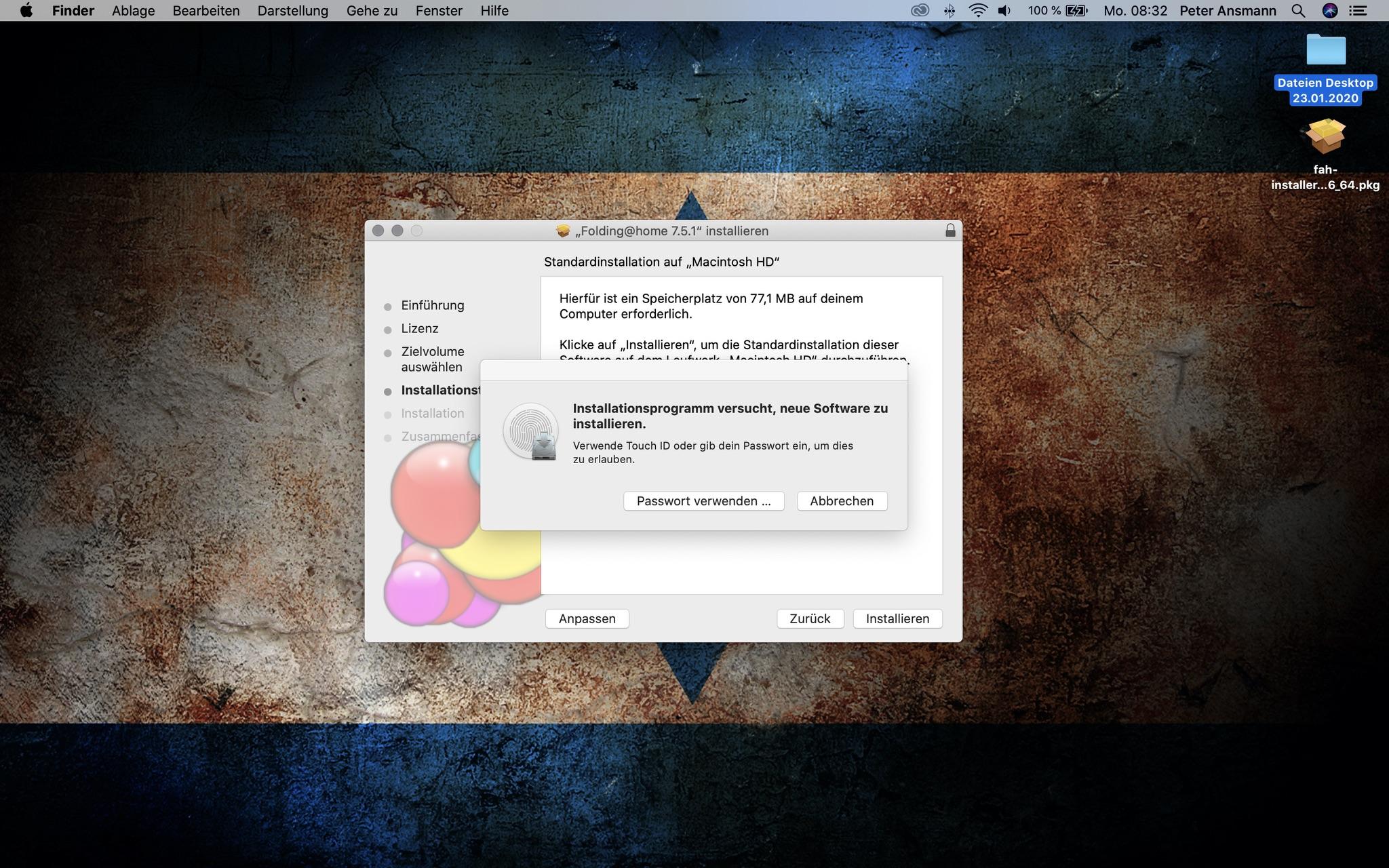 Folding@Home: Die Installation ist kein Hexenwerk; Screenshot