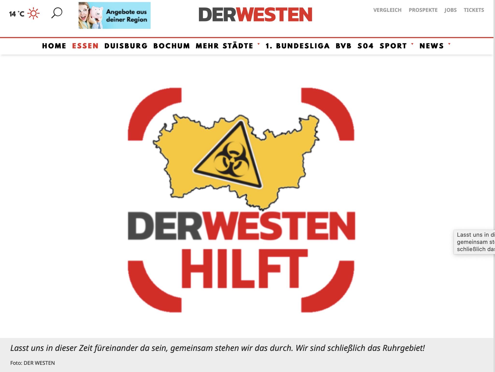 Das Ruhrgebiet hält zusammen!