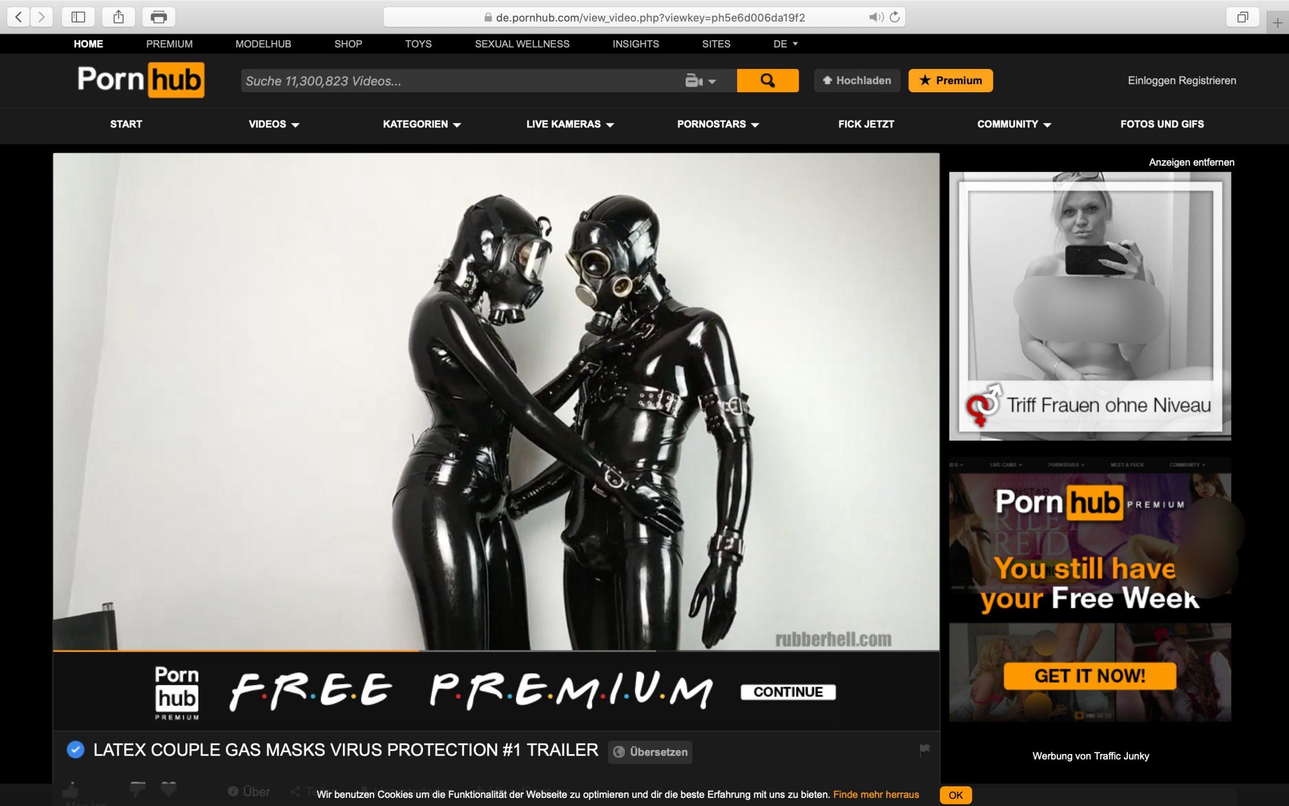 Romantik UND Sicherheit in Zeiten der Coronakrise: Läuft! Screenshot Pornhub