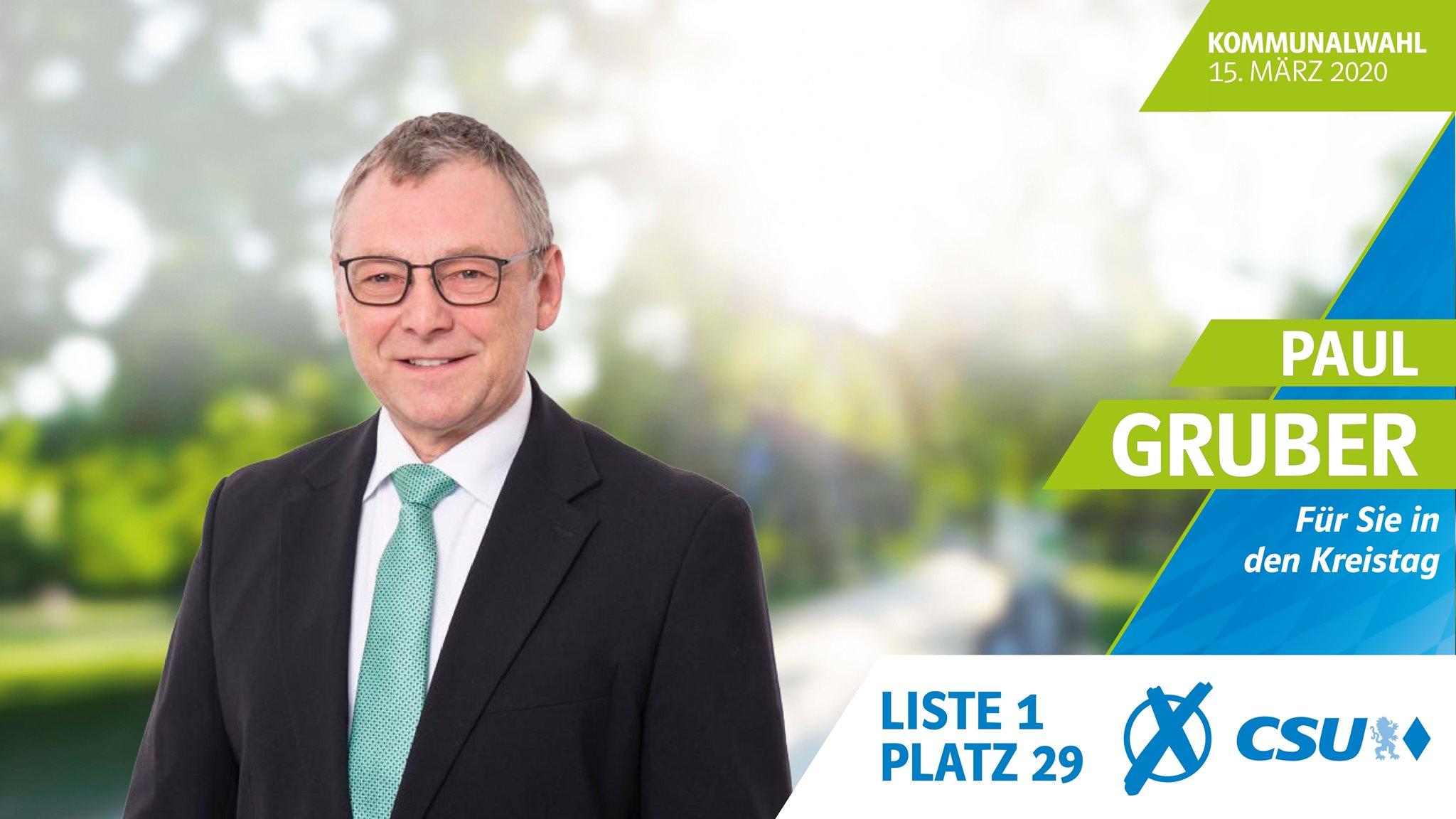 In Bayern politisch aktiv: Paul Gruber; Foto: CSU Freyung-Grafenau
