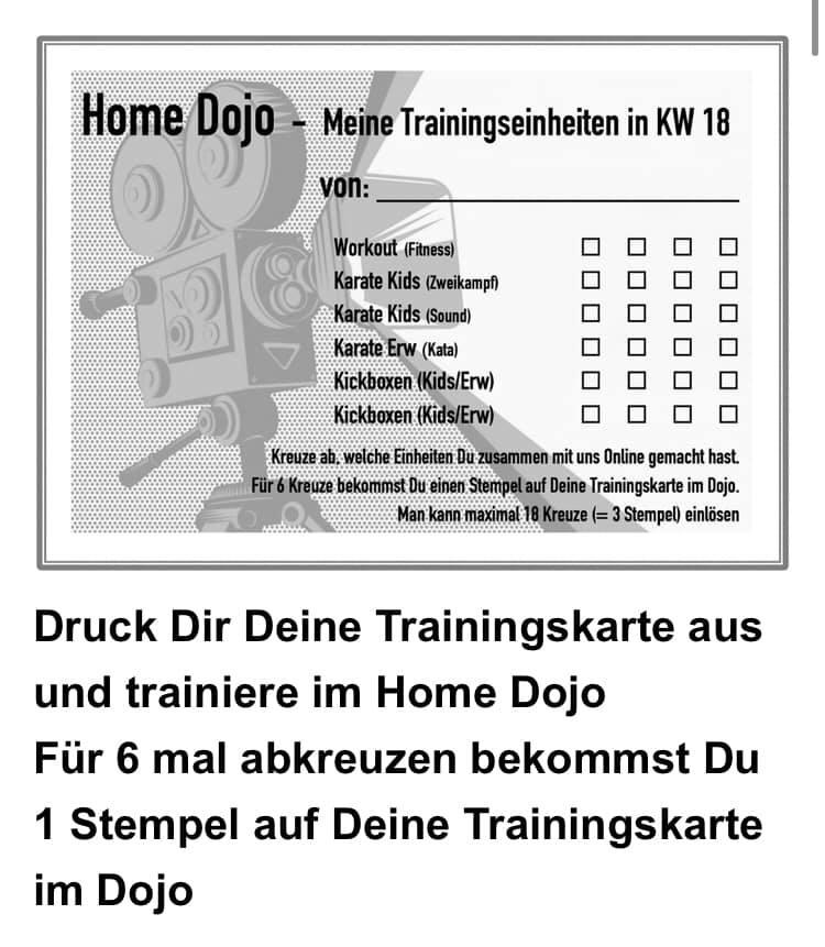Klar: Die Trainingseinheiten müssen dokumentiert werden; Screenshot Facebook