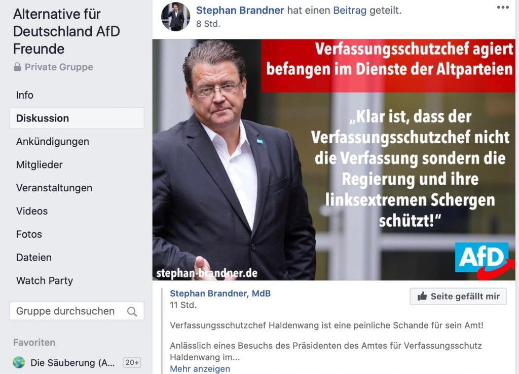 Der Verfassungsschutz: Böse, böse; Screenshot Facebook