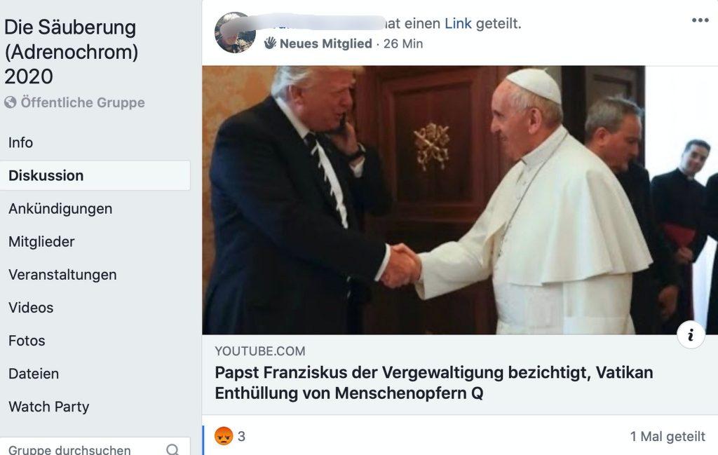 Killerkommandos des Franziskanerordens sind gerade aktiv; Screenshot Facebook