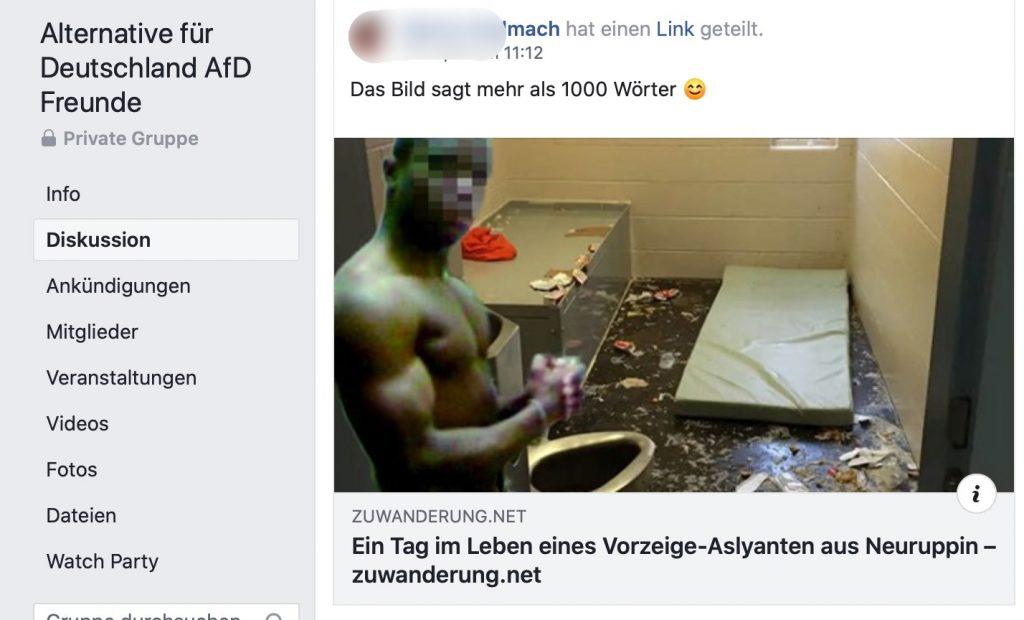 Plumpe Fälschungen: Gerne geteilt bei der AfD! Mut zur Wahrheit; Screenshot Facebook