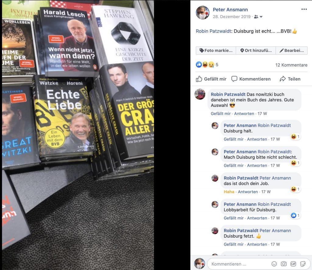 Eine Buchhandlung in Duisburg! #duisburgistecht: Echte Liebe zum BVB; Foto: Peter Ansmann
