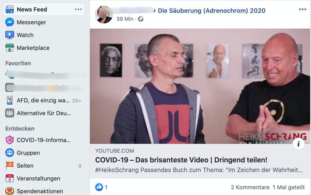Medizinischer Sachverstand wird hier im Dialog vermittelt: Heiko Schrang und Olaf Kretschmann; Screenshot YouTube.com