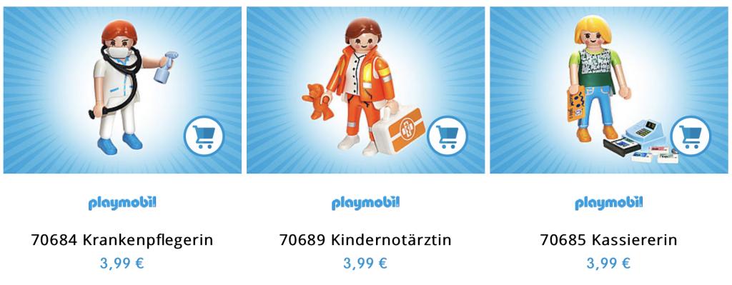 Helden des Alltags: Mit dem Verkauf wird das DRK unterstützt; Screenshot Playmobil.de