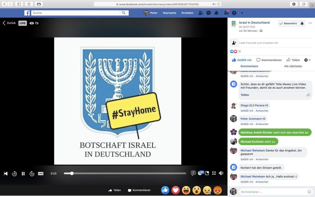 Online Krav Maga: Interessante Veranstaltung der israelischen Botschaft; Screenshot Facebook