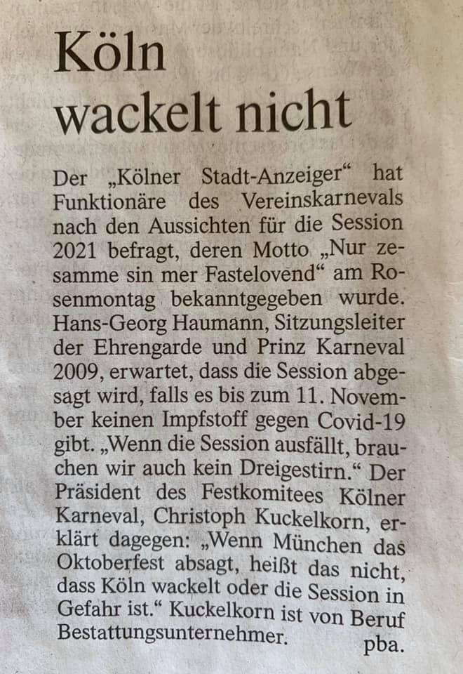 """""""Legendäre letzte Sätze, Folge 1"""" - FAZ 22.4.2020; Screenshot Facebook"""