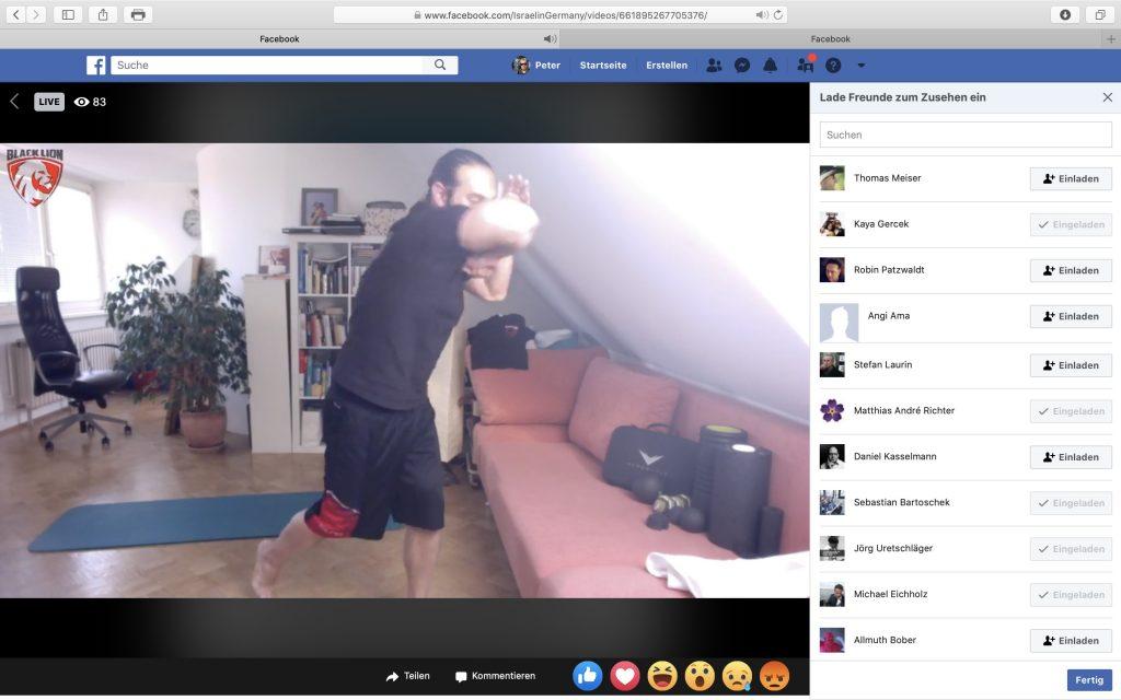 Linir Mizrahi zeigt, wie man den Ellbogen korrekt im Krav Maga nutzt; Screenshot Facebook