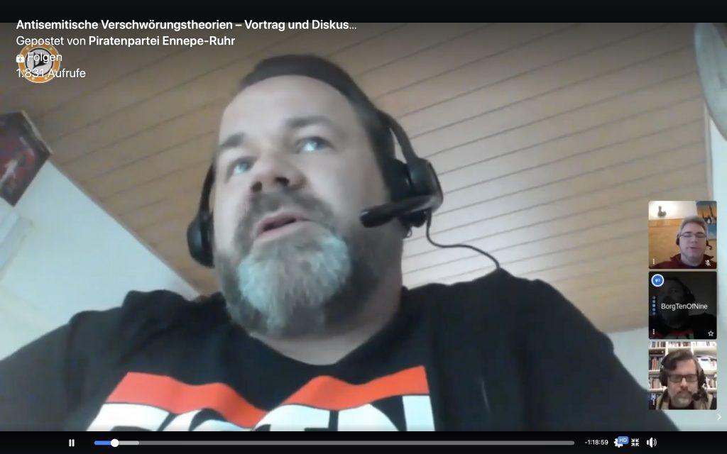 Stefan Borggraefe, Vorsitzender Piratenpartei Ennepe-Ruhr; Screenshot YouTube