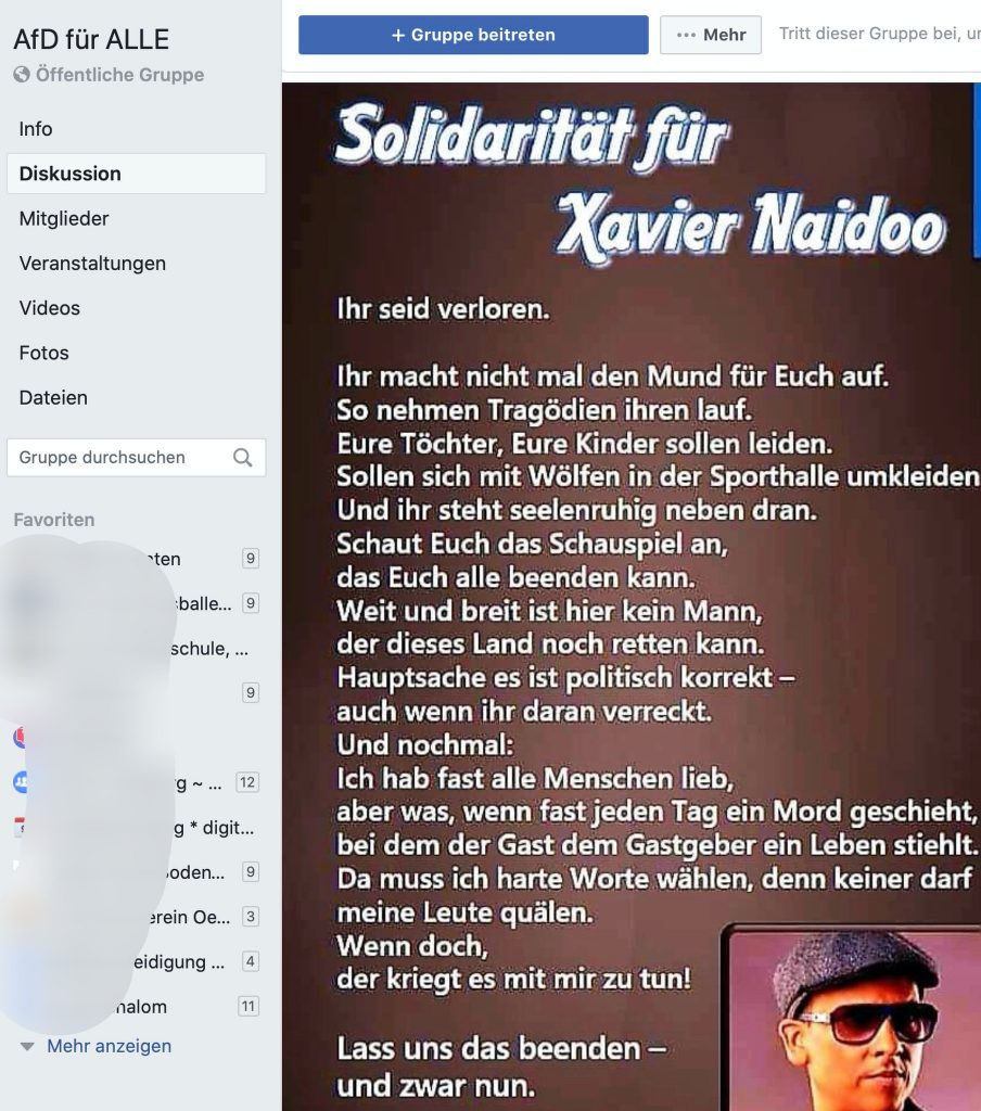 Wirre Theorien um Adrenochrom: Heuer bei der AfD im Schwange; Screenshot Facebook