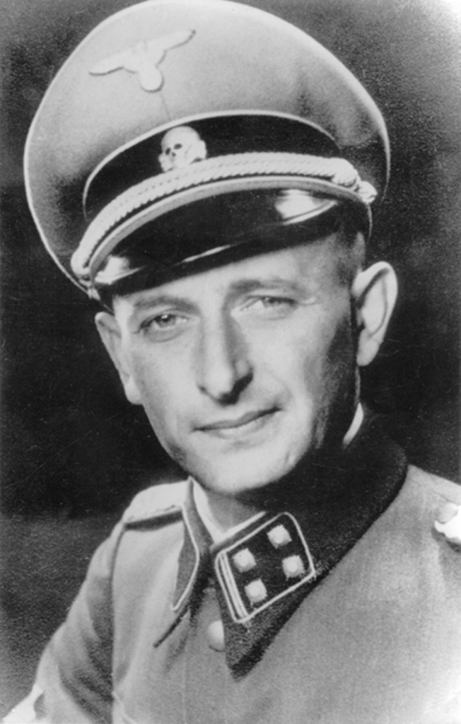 Logistischer Architekt der Shoa: Adolf Eichmann; Foto: Public Domain