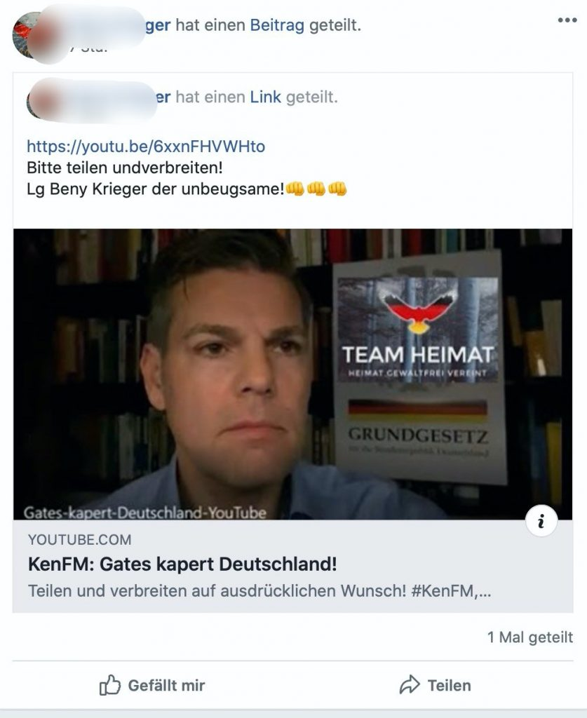 KenFM: Gates kapert Deutschland; Screenshot: Facebook