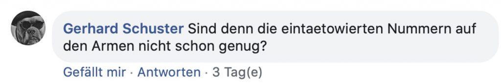 Corona-Rebellen: Kommentare wie diese werden in der Facebook-Gruppe toleriert; Screenshot Faaceook