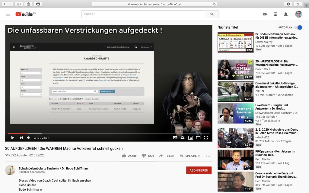 20 AUFGEFLOGEN ! Die WAHREN Mächte Volksverrat schnell gucken; Screenshot YouTube
