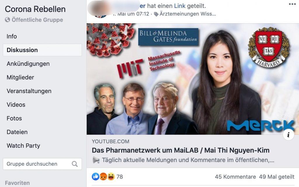 Aluhutträger Oliver Janich: Oft verlinkt; Screenshot Facebook