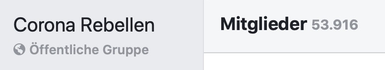 """""""Corona Rebellen"""": Mitgliederzuwachs in der Gruppe seit März; Screenshot Facebook"""