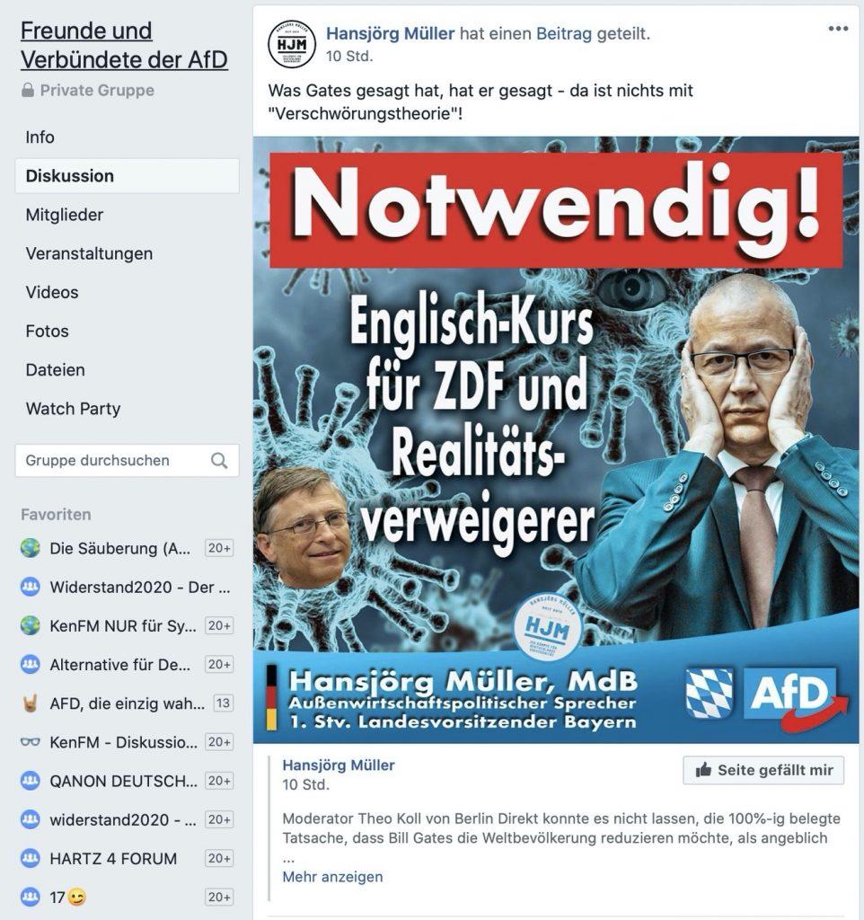 """""""Notwendig"""" ist was anderes: Und nicht fürs ZDF; Screenshot Facebook"""