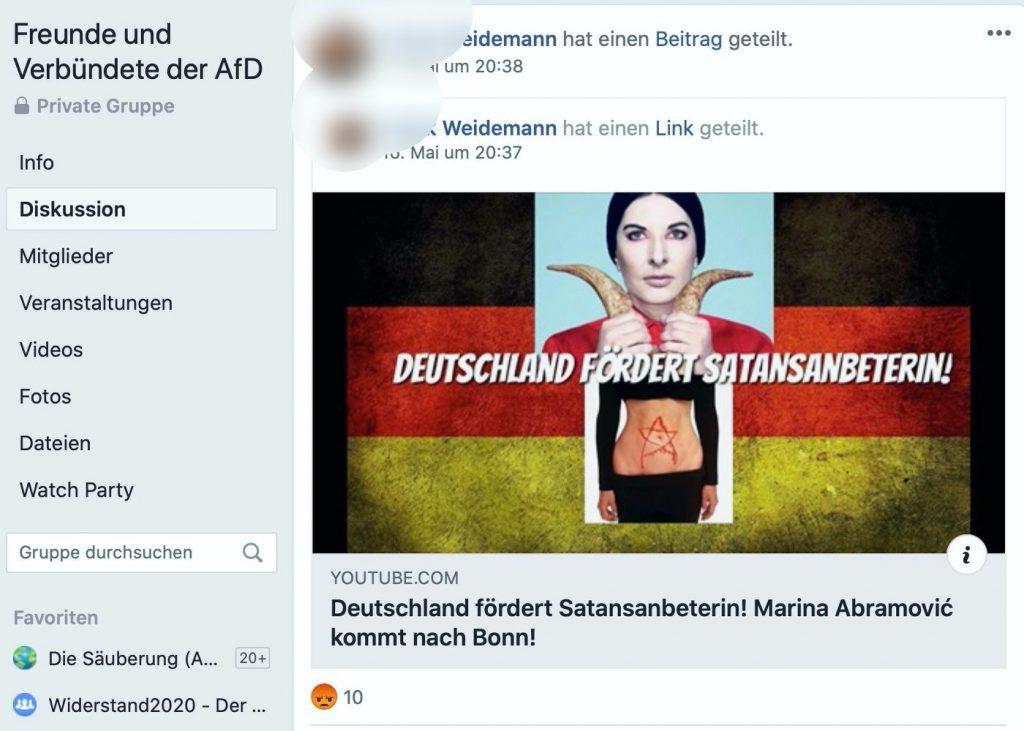 Die AfD kann nur Hetze: Läuft! Screenshot Facebook