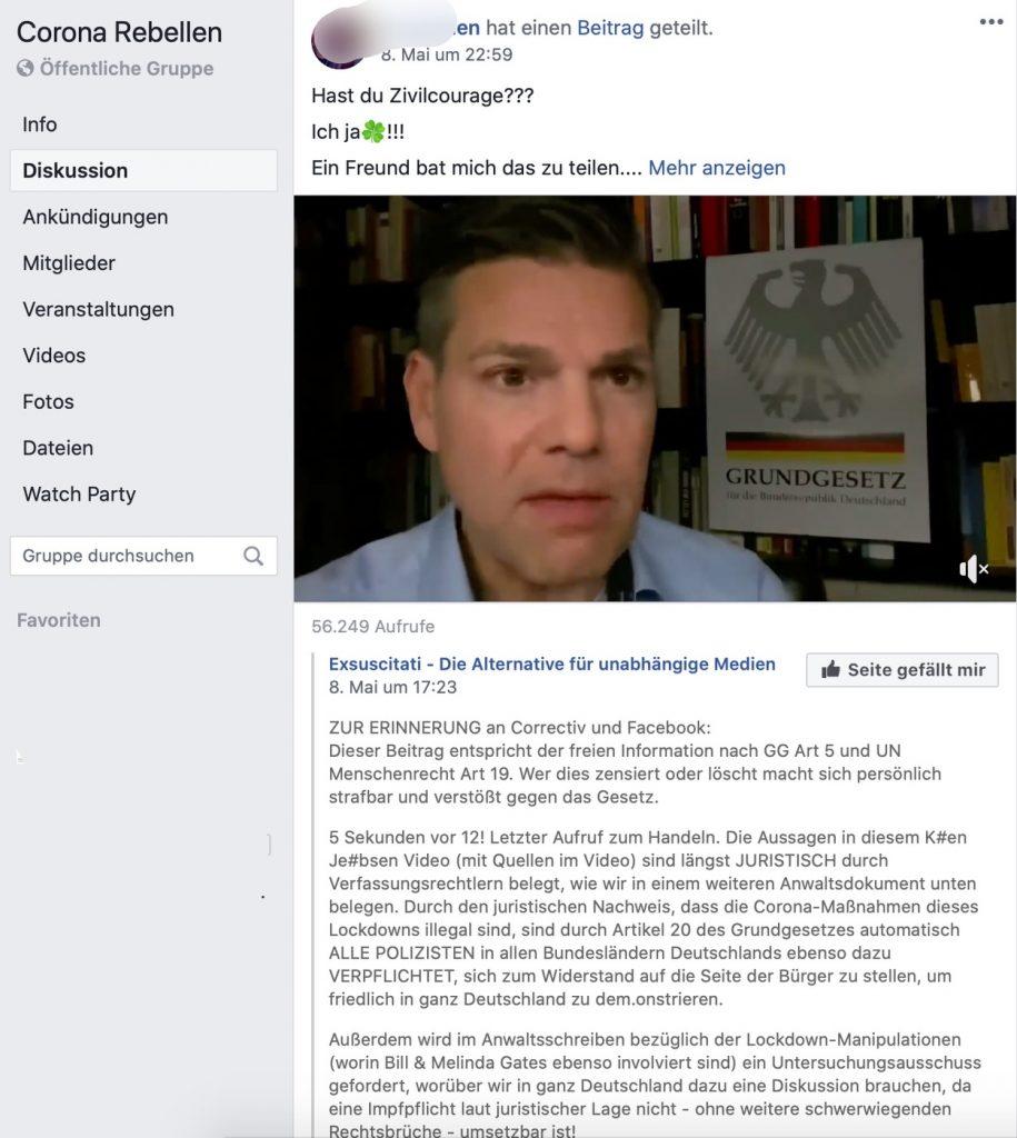 Viel juristischer Bullshit und KenFM: Passt; Screenshot Facebook