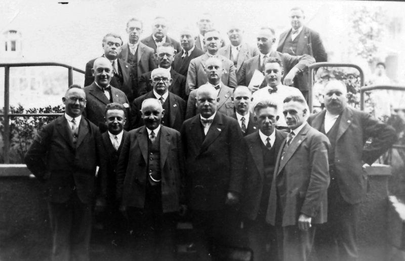 Sozialdemokratische Stadtverordnetenfraktion; Foto: Archiv Adolf Graber