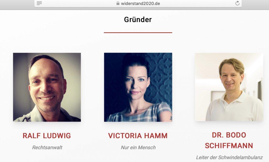 """""""Nur ein Mensch"""" - Matrix-Fans bei Widerstand2020; Immerhin! Screenshot widerstand2020.de"""