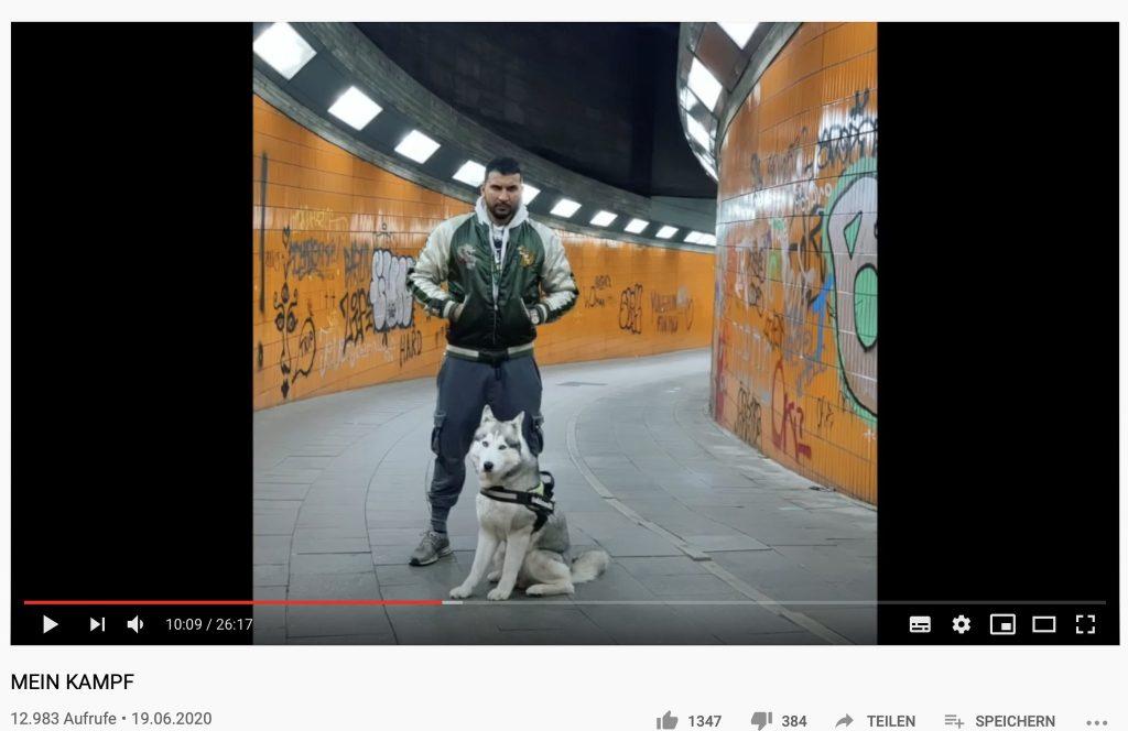 """Auf YouTube: """"Mein Kampf"""" von Attila Hildmann; Screenshot YouTube"""