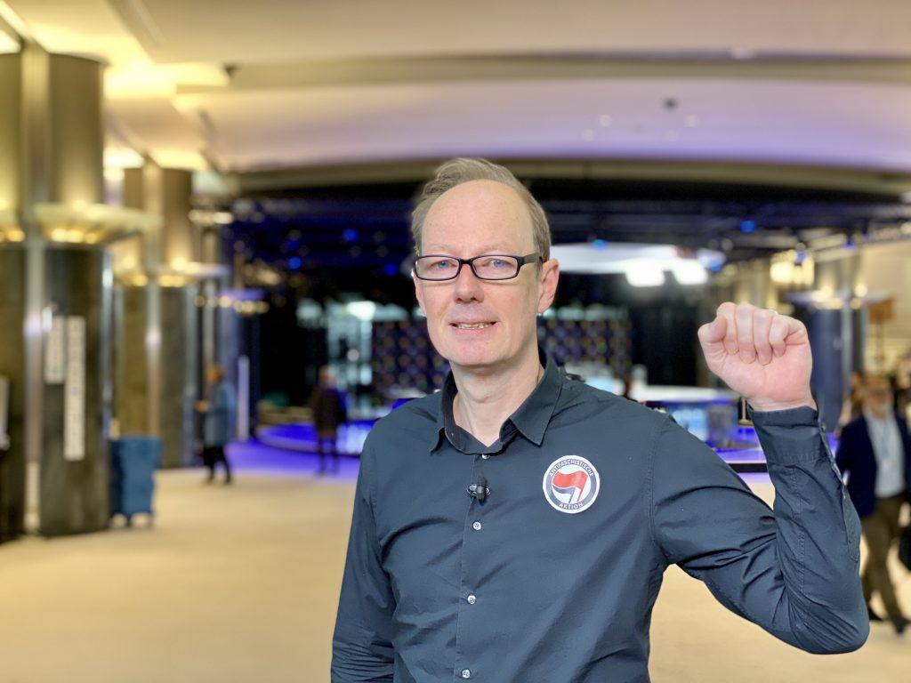 Martin Sonneborn (Die PARTEI) zum Coup der SPD; Foto: Martin Sonneborn