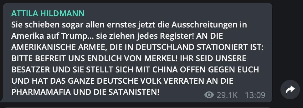 Mehr Ambivalenz geht nicht: Die US-Streitkräfte sind Besatzer und Befreier zugleich; Screenshot Telegram