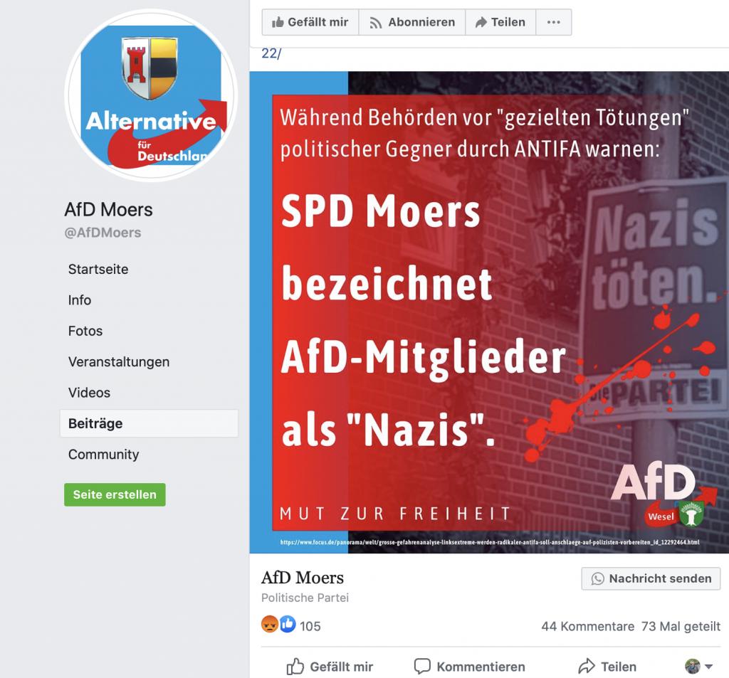 Ob SPD oder DIE PARTEI, egal: Hauptsache irgendwas mit PARTEI; Screenshot