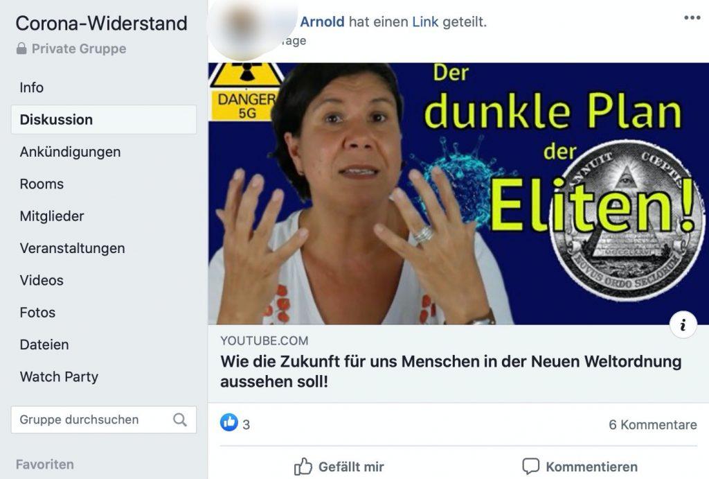 YouTube-Kanal Heilpraktikerausbildung Nordheide: Krude Verschwörungstheorien; Screenshot