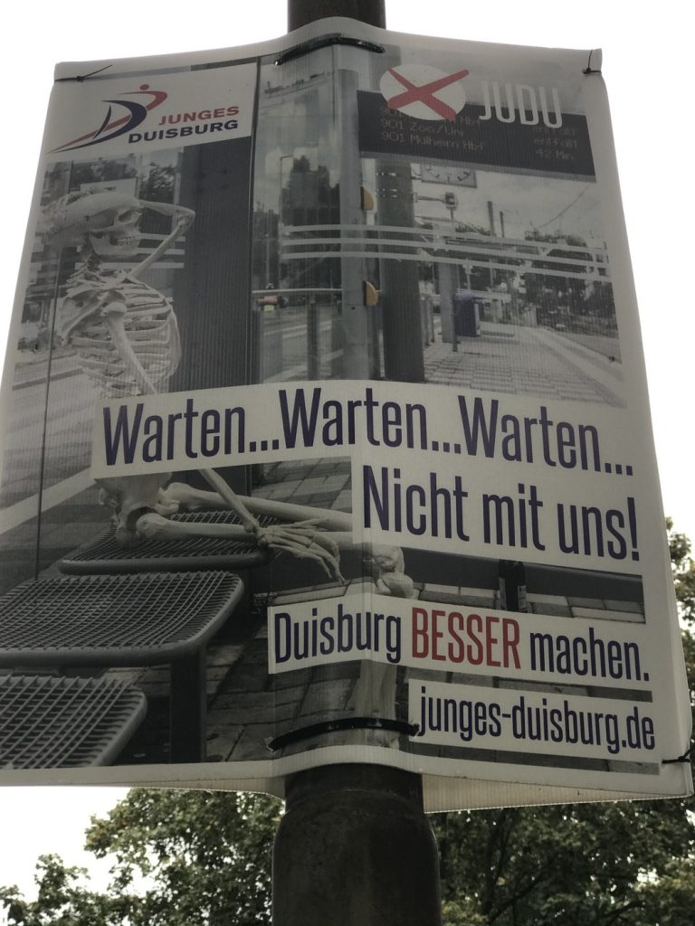 Junges Duisburg: Kommunalwerbung kann auch lustig sein; Foto: Peter Ansmann