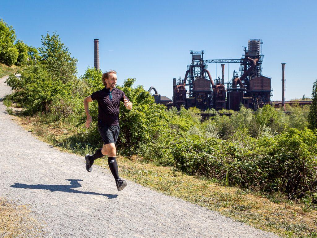 Hier trainiert Pater Tobias oft: Der Landschaftspark Nord; Foto: Projekt LebensWert / Daniel Elke
