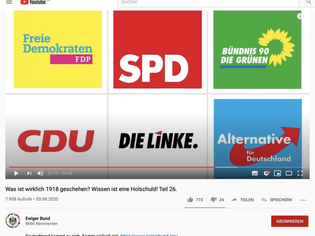 Parteien, alle sind sie böse; Screenshot YouTube
